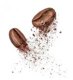 two coffee beans broken into 260nw 1055417477